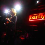 Photos and a grainy video from Barfly gig